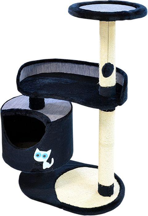Комплекс для кошек Зооник, цвет: синий, 82 х 43 х 118 см22101-9Дом для кошек круглый Зооник изготовлен из коврового велюра. Просторный домик подойдет для котят и для взрослых кошек. Над основным местом отдыха находится 2-е дополнительных площадки, на которых ваш любимец сможет полежать свесив лапки. Также предусмотрена когтеточка из комбинированной веревки(пенька/сизаль) и подвесная игрушка. Крышу домика украшает аппликация в виде кошки. Домики ТМ Зооник отличает высокое российское качество при доступной цене. Цвет синий.