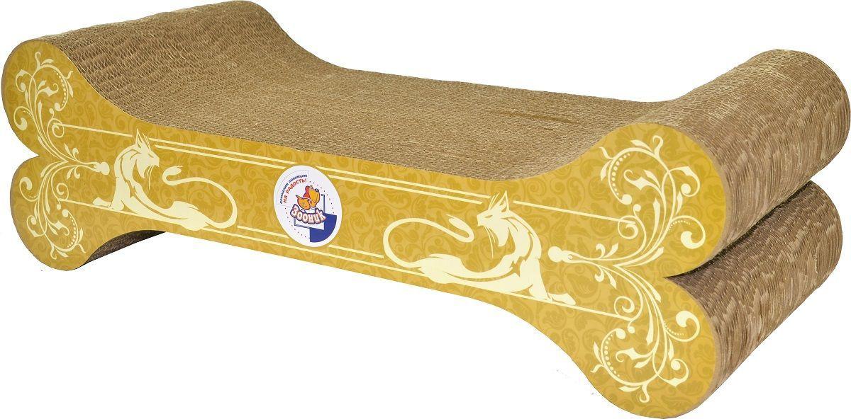 Когтеточка-лежанка Зооник Косточка, 51 х 23 х 16 см22348Когтеточка-лежанка Зооник из гофрокартона в виде косточки. Многослойная упругая структура когтеточки делает ее притягательной для кошачьих лап, деликатный процесс для кошачьих коготков: когти не застревают и не цепляются за материал когтеточки, можно использовать как лежанку: кошки любят лежать на картонных предметах. Когтеточка изготовлена путем склеивания множества слоев, вырезанных из гофрокартона. При производстве применяется клей ПВА полностью безопасный даже для детей.
