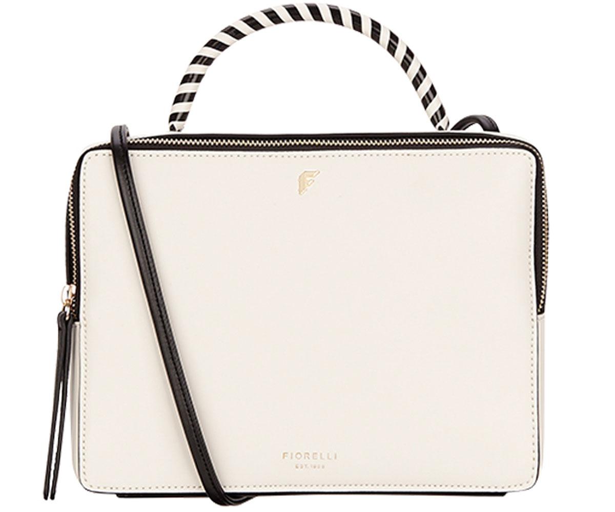 Сумка женская Fiorelli, цвет: белый, черный. 8666 FH Mono8666 FH MonoЭлегантная женская сумка Fiorelli изготовлена из качественной искусственной кожи. Модель с одним отделением закрывается на застежку-молнию. Внутри имеются дополнительные карманы. Сумка оснащена двумя удобными ручками и плечевым ремнем, который можно регулировать по длине.