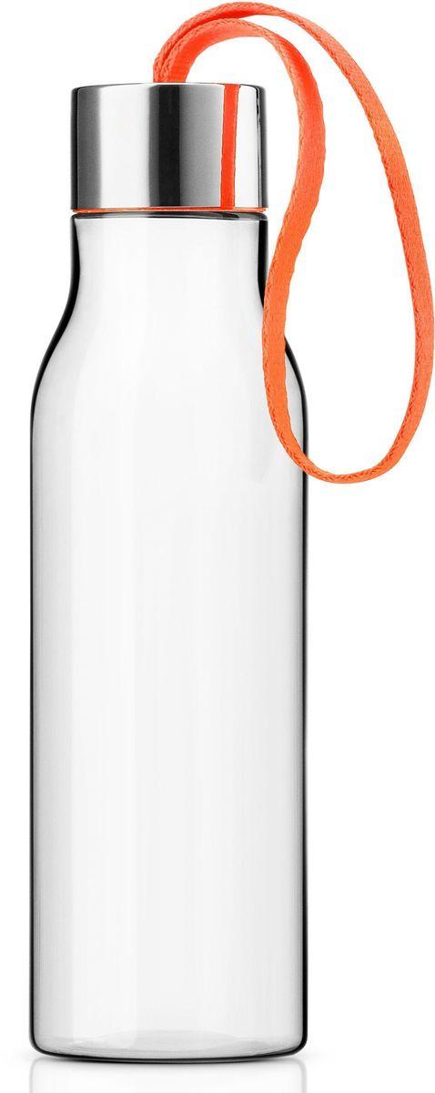 Бутылка Eva Solo, 500 мл, цвет: оранжевый. 502993502993Очень удобная бутылка для воды, которую можно положить в сумку, взять с собой в офис или использовать на отдыхе. Она полностью герметична, ее можно наполнять снова и снова, и тем самым уменьшить количество пластиковых бутылок, тем самым помогая сохранить окружающую среду. Бутылка сделана из пластика, не содержащего BPA, то есть бисфенола, вредных примесей и тяжелых металлов. Бутылку можно мыть в посудомоечной машине, крышку - вручную.