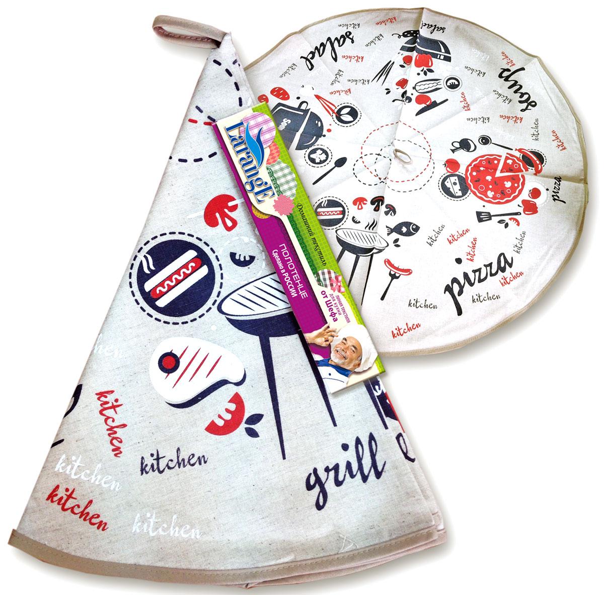 Полотенце От Шефа, круглое, диаметр: 70 см, полулен, шелкография1140Кухонный текстиль всегда выполняет двойную миссию — декоративную и практичную. Фартуки, полотенца, практичные комплекты из нескольких элементов с декором и прихватки -полезные и красивые кухонные аксессуары необходимые каждой хозяйке. Домашний текстиль из натурального льна — не просто следование модной тенденции к естественности. Лен — это действительно одно из самых ценных волокон растительного происхождения. Его уникальные свойства наделяют ткани ценными качествами. Льняная ткань — самая прочная и экологичная. Она практически не выгорает на прямом солнце, легко стирается и, при этом, не садится и не деформируется.