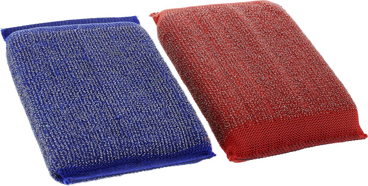 Набор губок Хозяюшка Мила Задира для мытья посуды, со стальной нитью, цвет: красный, синий, 2 шт1019_красный, синийДля изготовления верхнего чистящего слоя губки Задира используется ткань с металлизированной нитью, благодаря этому поверхность губки становится жесткой и подходит для удаления самых сильных загрязнений. Идеальна для очистки грилей, решеток, шампуров, барбекю. Размер губки: 12,5 х 8,5 х 2 см. Уважаемые клиенты! Обращаем ваше внимание на возможные изменения в дизайне упаковки. Качественные характеристики товара остаются неизменными. Поставка осуществляется в зависимости от наличия на складе.