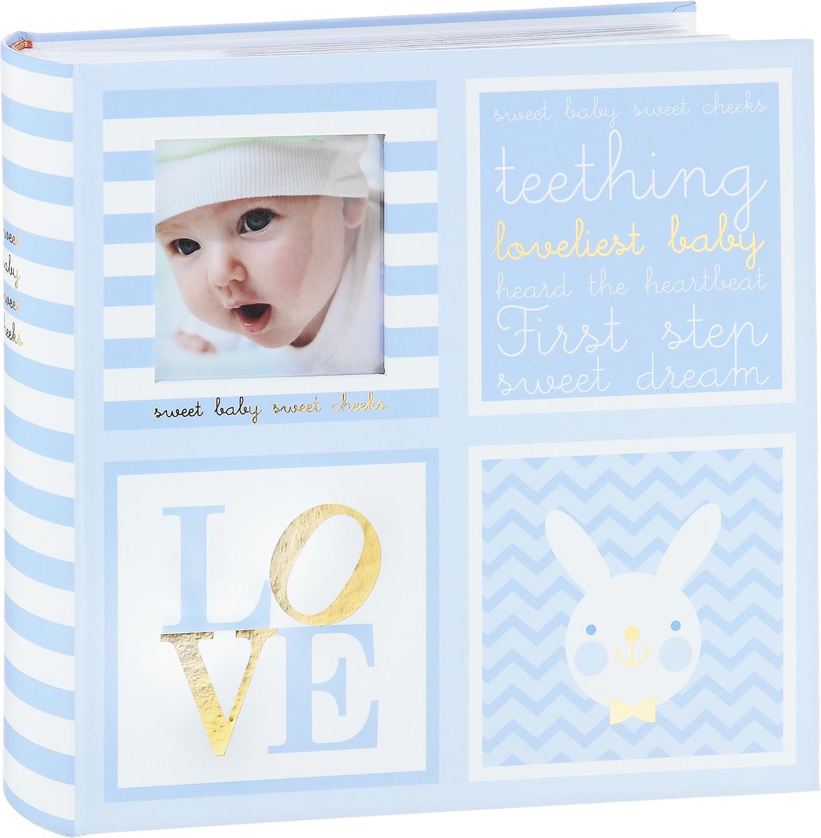 Фотоальбом Image Art Baby, 200 фотографий, 10 x 15 см, цвет: голубойBBM46200/2/026_голубой, полосыФотоальбом Image Art Baby, 200 фотографий, 10 x 15 см, цвет: голубой