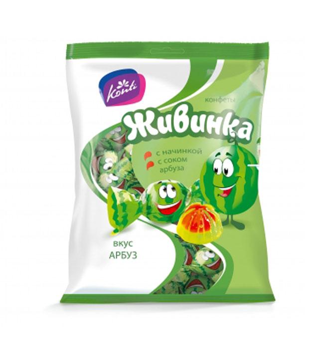 Konti Живинка конфеты желейные со вкусом арбуза, 250 г 4600495515827