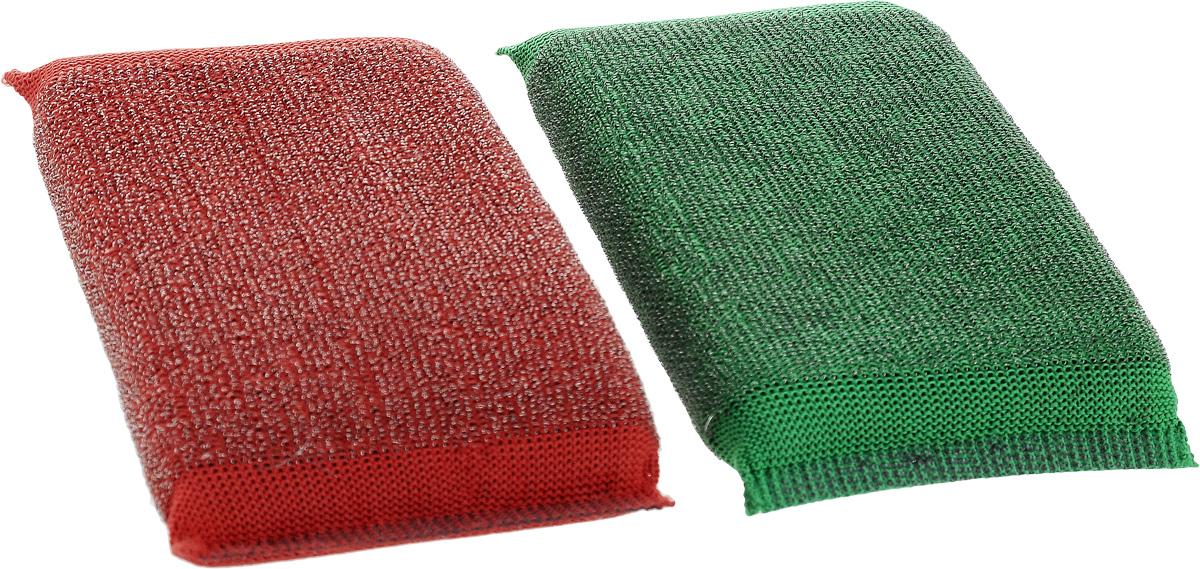 Набор губок Хозяюшка Мила Задира для мытья посуды, со стальной нитью, цвет: красный, зеленый, 2 шт1019_красный, зеленыйДля изготовления верхнего чистящего слоя губки Задира используется ткань с металлизированной нитью, благодаря этому поверхность губки становится жесткой и подходит для удаления самых сильных загрязнений. Идеальна для очистки грилей, решеток, шампуров, барбекю. Размер губки: 12,5 х 8,5 х 2 см. Уважаемые клиенты! Обращаем ваше внимание на возможные изменения в дизайне упаковки. Качественные характеристики товара остаются неизменными. Поставка осуществляется в зависимости от наличия на складе.