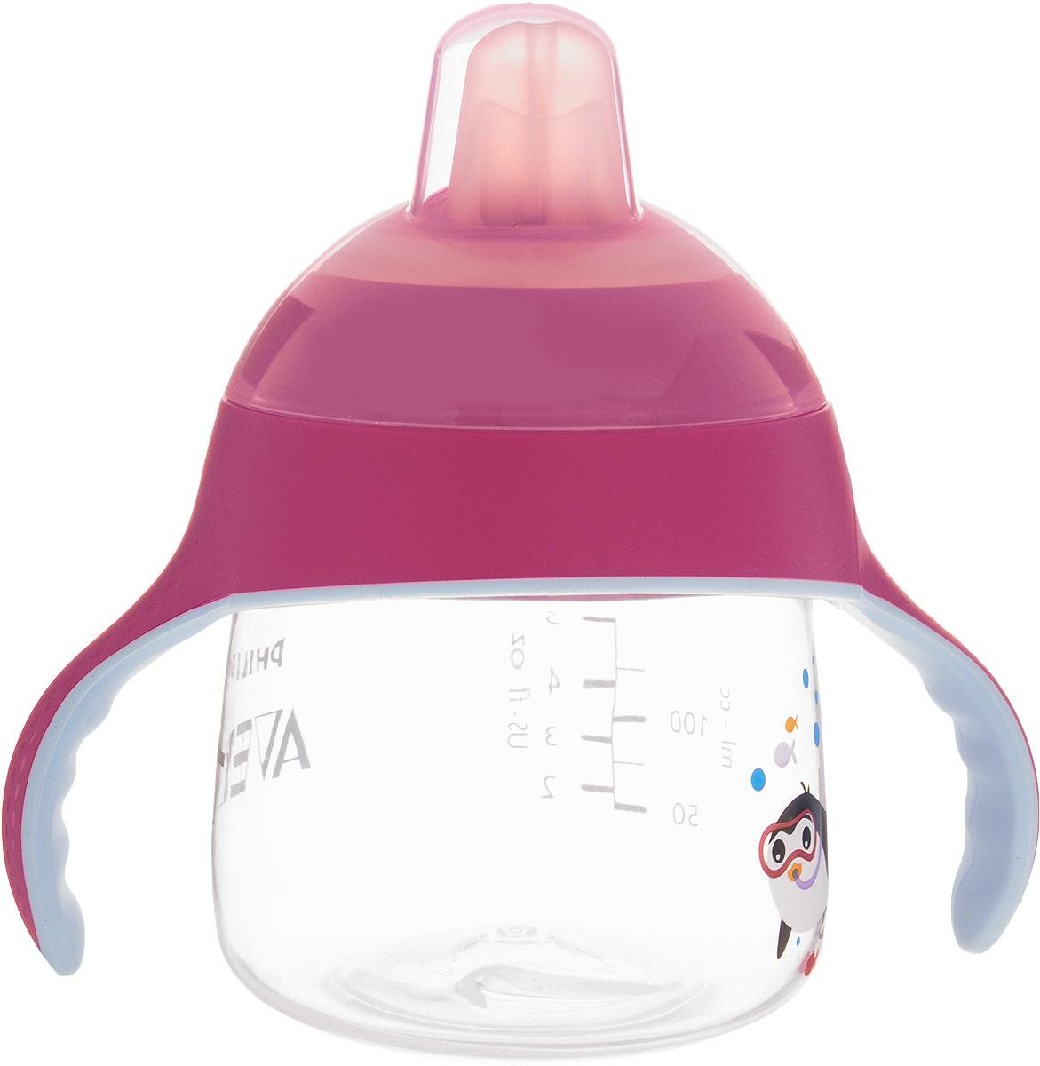 Philips Avent Волшебная чашка-непроливайка от 6 месяцев, цвет: розовый, 200 мл SCF751/00