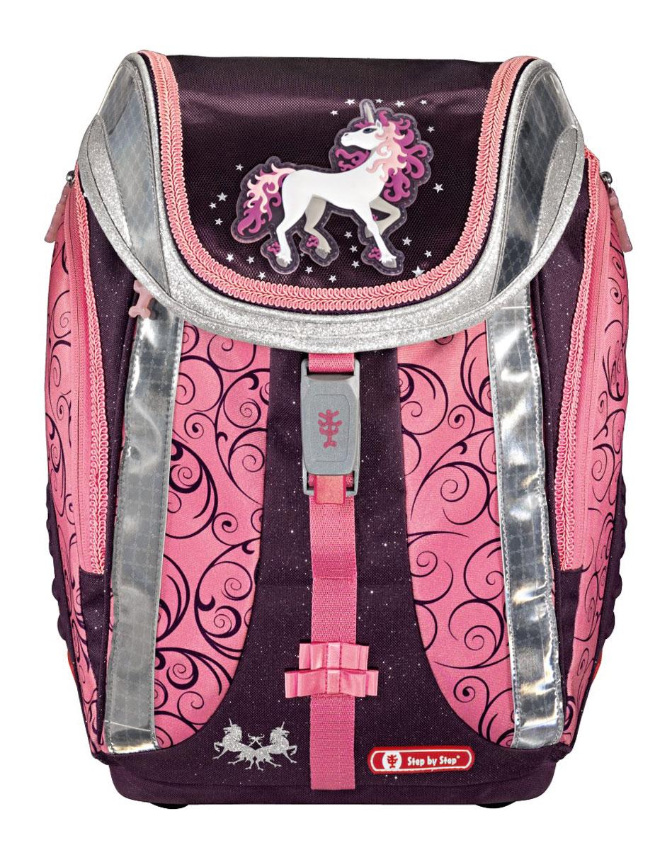 Hama Ранец школьный Flexline Unicorn с наполнением 4 предмета 119706