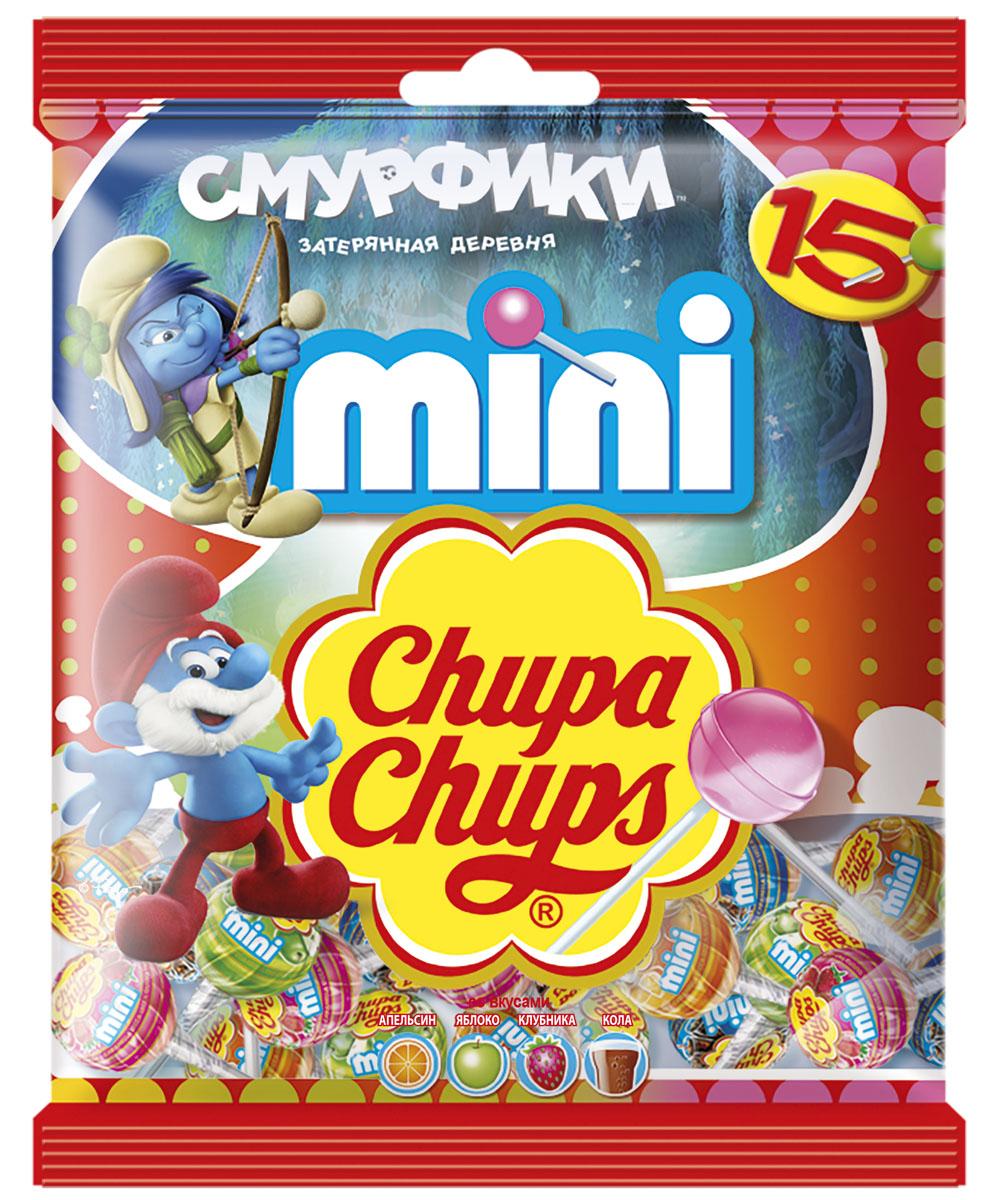 Chupa Chups Смурфики 3 карамель ассорти мини с наклейками, 90 г8253327Теперь Смурфики с Chupa-Chups, собери всю коллекцию наклеек с любимыми героями!