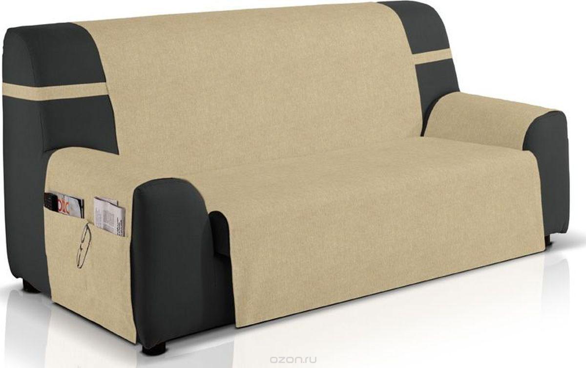 Чехол на диван Медежда Иден, двухместный, цвет: бежевый14020212030Чехол на двухместный диван Медежда Иден изготовлен на 60% из хлопка и на 40% из полиэстера. Чехол разработан с практичными боковыми карманами, в которых можно хранить пульты, журналы или газеты, очень удобен и прост в установке. Чехол легко растягивается и хорошо принимает форму дивана, подходит для большинства стандартных диванов с шириной спинки 120 см. За счет специальных фиксаторов чехол прочно держится на мебели, не съезжает и не соскальзывает. Разрешена машинная стирка при температуре 30°С. Ширина спинки: 120 см.