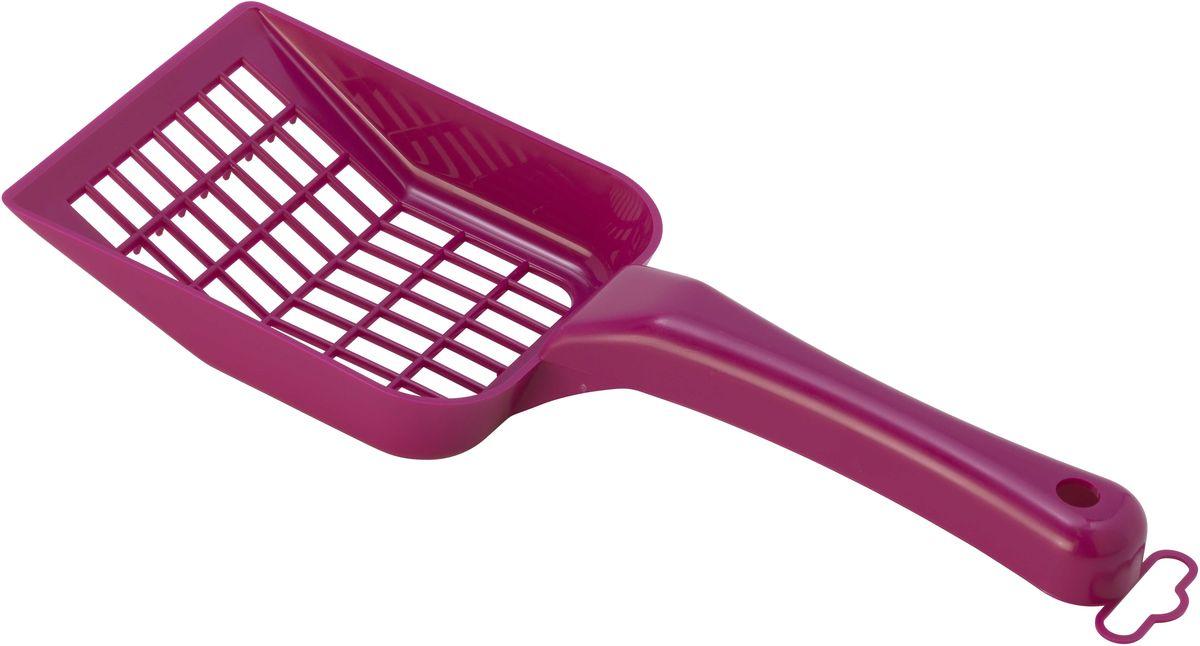 Совок для кошачьего туалета Moderna Scoopy, цвет: ярко-розовый, 10 х 26 см14C157328