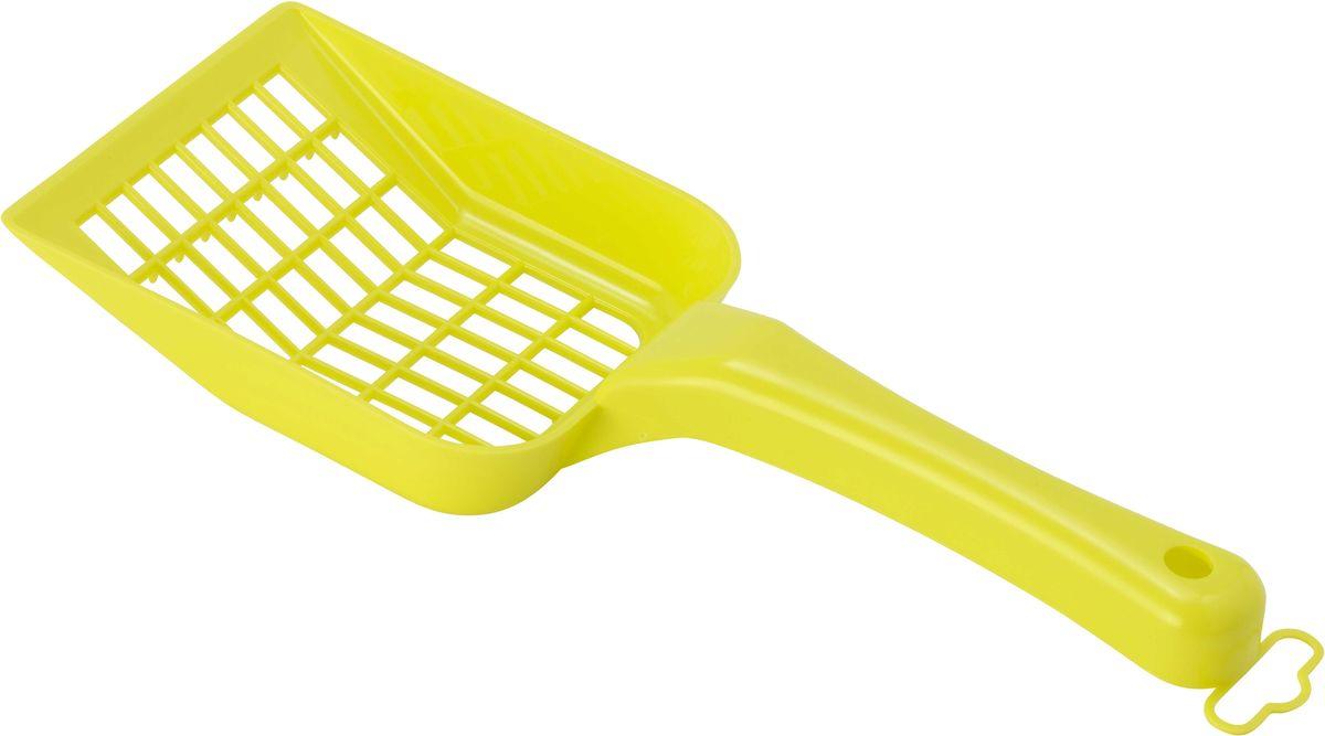 Совок для кошачьего туалета Moderna Scoopy, цвет: лимон, 10 х 26 см14C157329