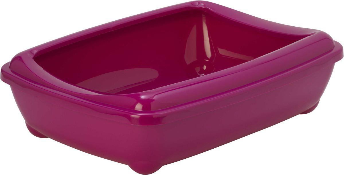 Открытый туалет для кошек Moderna Arist-O-Tray, цвет: ярко-розовый, 38 х 50 х 14 см14C192328