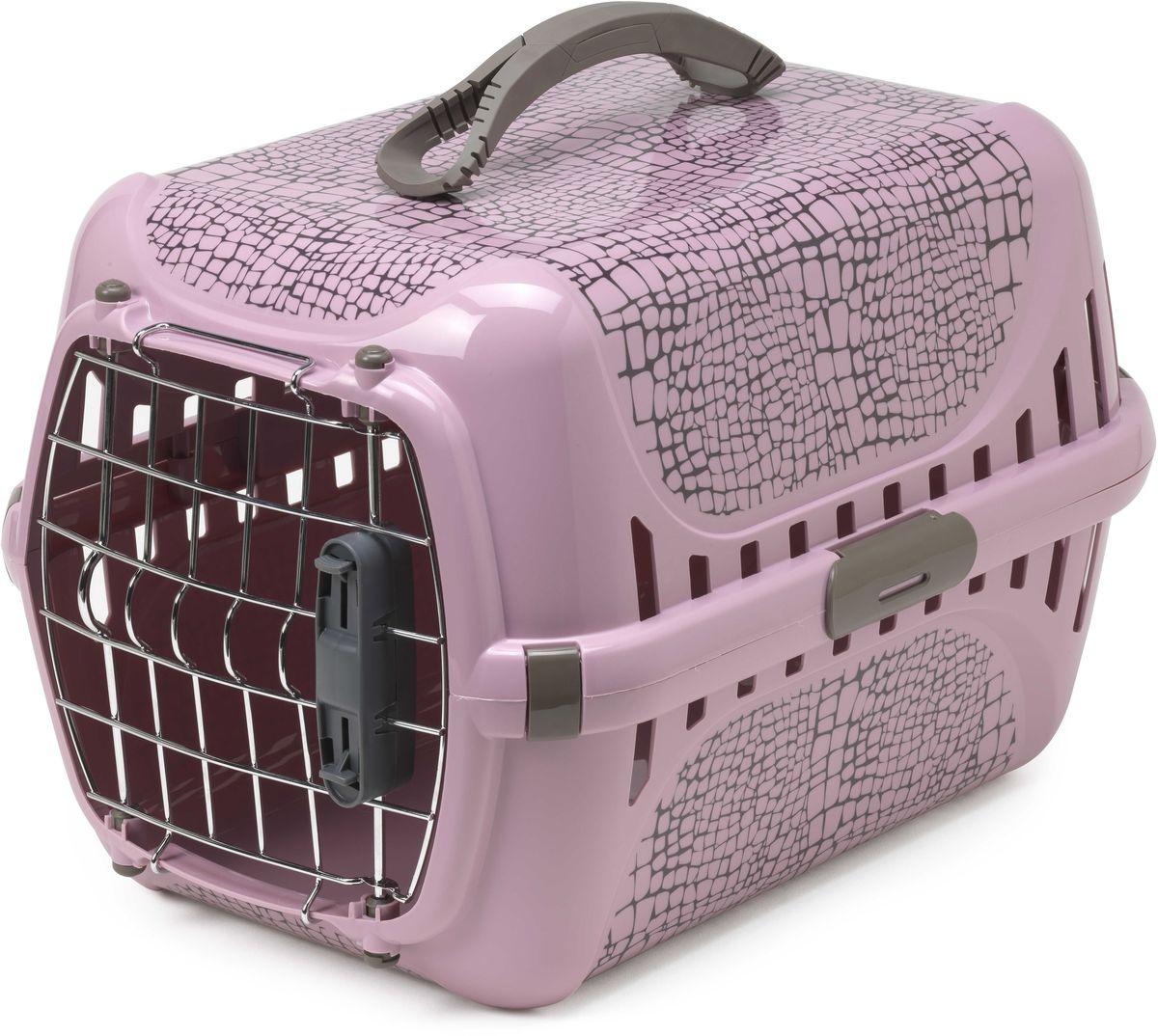 Переноска для авиаперевозок Moderna Trendy Runner. Дикая Природа, цвет: розовый, 51 х 31 х 34 см14T153310