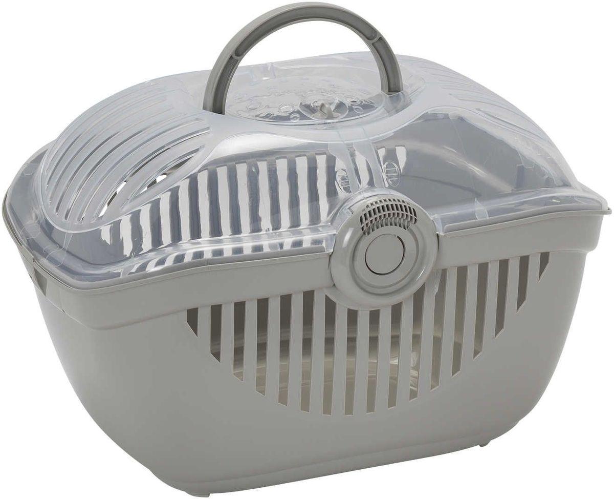 Переноска для кошек Moderna Top Runner, цвет: светло-серый, 36 х 48 х 32 см14T800330