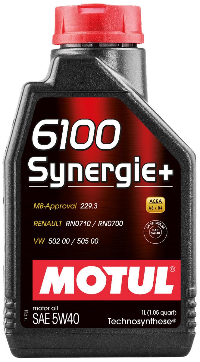 Масло моторное Motul 6100 Synergie+, синтетическое, 5W-40, 1 л103728Моторное масло для бензиновых и дизельных двигателей Technosynthese. Всесезонное моторное масло, созданное процессом Technosynthese. Рекомендуется для современных бензиновых и дизельных двигателей легковых автомобилей. Высокое качество продукта позволяет использовать его для высокотехнологичных двигателей: многоклапанных, инжекторных, турбированных. Допускается смешивать с высокотехнологичными минеральными и синтетическими маслами. ACEA Стандарты: ACEA A3/B4 API Стандарты: API SN/CF Одобрения: MB-Approval 229.3; VW 502 00 - 505 00; RN0710 - 0700