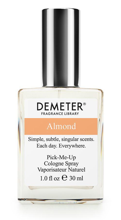 Demeter Fragrance Library Духи-спрей Миндаль (Almond), женские, 30 млDM01937Многие думают, что миндаль — это орех. На самом деле (и так написано в книгах) миндаль — это косточковый плод. То есть внутри плода есть косточка. И все можно есть. Almond от Demeter еще более оригинален: снаружи — стеклянный флакон, а внутри целых 30 мл настоящего миндаля! И, конечно, никаких косточек. Духи считаются самым изысканным видом парфюмерной продукции и содержат самый большой процент ароматической композиции (от 15% до 30% и более), растворенной в очень чистом спирте (96% об.). Высокое содержание экстракта обеспечивает духам большую стойкость и силу по сравнению с другими видами парфюмерных товаров. Всего лишь пары капель достаточно для того, чтобы запах держался в течение 5 и более часов. Товар сертифицирован.