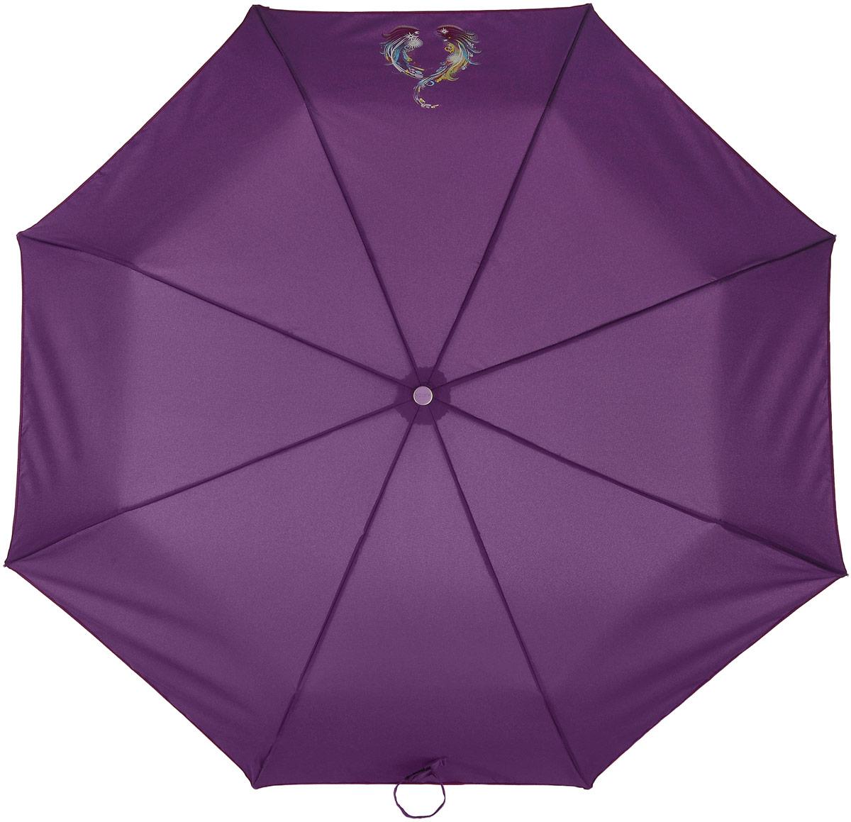 Зонт женский Airton, механический, 3 сложения, цвет: фуксия, голубой. 3512-0773512-077Классический женский зонт Airton в 3 сложения имеет механическую систему открытия и закрытия. Каркас зонта выполнен из восьми спиц на прочном стержне. Купол зонта изготовлен из прочного полиэстера. Практичная рукоятка закругленной формы разработана с учетом требований эргономики и выполнена из качественного пластика с противоскользящей обработкой. Такой зонт оснащен системой антиветер, которая позволяет спицам при порывах ветрах выгибаться наизнанку, и при этом не ломаться. К зонту прилагается чехол.