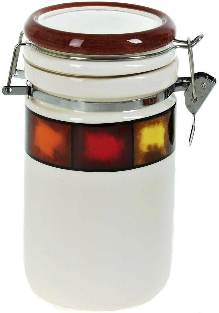 Банка для сыпучих продуктов ENS Group Мармелад, 675 мл0050011Банка для сыпучих продуктов Мармелад изготовлена из прочной керамики, закрывается крышкой. Банка прекрасно подойдет для хранения различных сыпучих продуктов: чая, кофе, сахара, круп и многого другого. Благодаря силиконовой прослойке и бугельному замку, крышка герметично закрывается, что позволяет дольше сохранять продукты свежими. Изящная емкость не только поможет хранить разнообразные сыпучие продукты, но и стильно дополнит интерьер кухни.