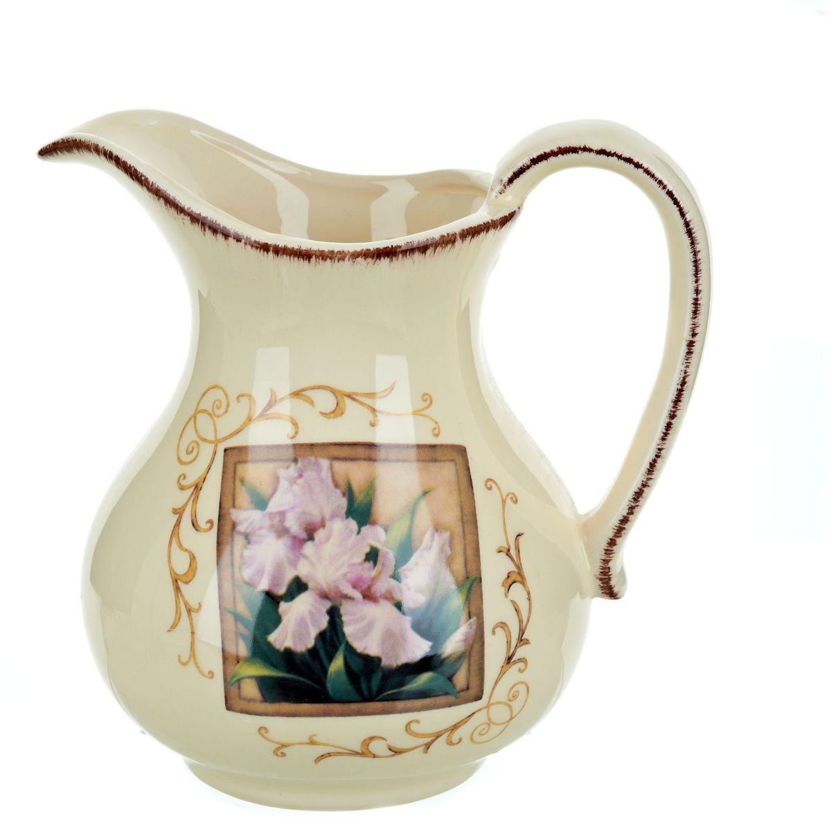 Кувшин ENS Group Розовый ирис, 1,28 л0280006Кувшин Розовый ирис изготовлен из высококачественной керамики, декорирован узорами и изображением ириса в рамке. Кувшин оснащен удобной ручкой. Прекрасно подходит для подачи воды, сока, компота и других напитков.В подарочной упаковке. Изящный кувшин красиво оформит стол и порадует вас элегантным дизайном и простотой ухода.