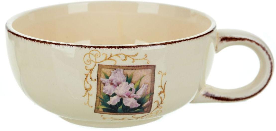 Чашка суповая ENS Group Розовый ирис, 500 мл0280011Кружка ENS Group Розовый ирис изготовлена из высококачественной керамики. Кружка предназначена для супов и жидких блюд. Изделие украшено узорами и изящным рисунком в виде цветка в рамке.