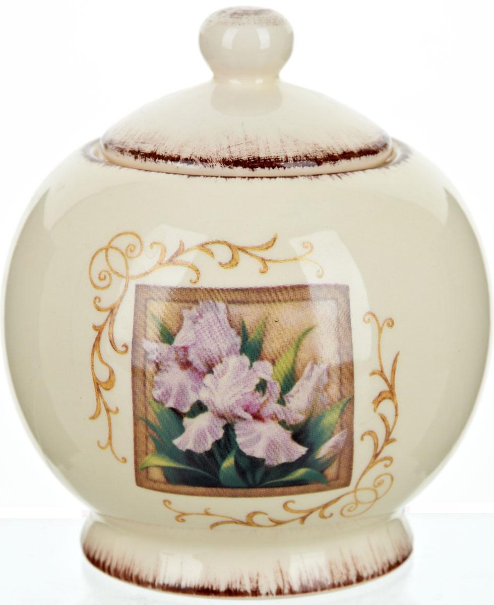 Сахарница ENS Group Розовый ирис, 450 мл0280019Сахарница Розовый ирис с крышкой изготовлена из высококачественной керамики и декорированы изображением цветка и узорами. Емкость универсальна, подойдет как для сахара, так и для меда.