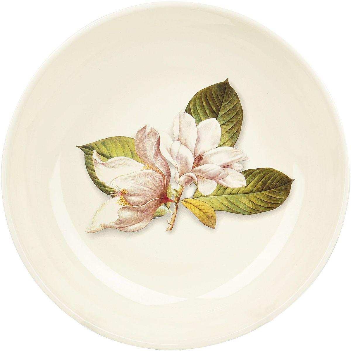 Тарелка обеденная ENS Group Танго Магнолия, диаметр 27 см0910011Тарелка Танго Магнолия, изготовленная из высококачественного доломита, предназначена для красивой подачи различных блюд. Изделие декорировано изящным рисунком цветов и имеет изысканный внешний вид. Такая тарелка украсит сервировку стола и подчеркнет прекрасный вкус хозяйки.