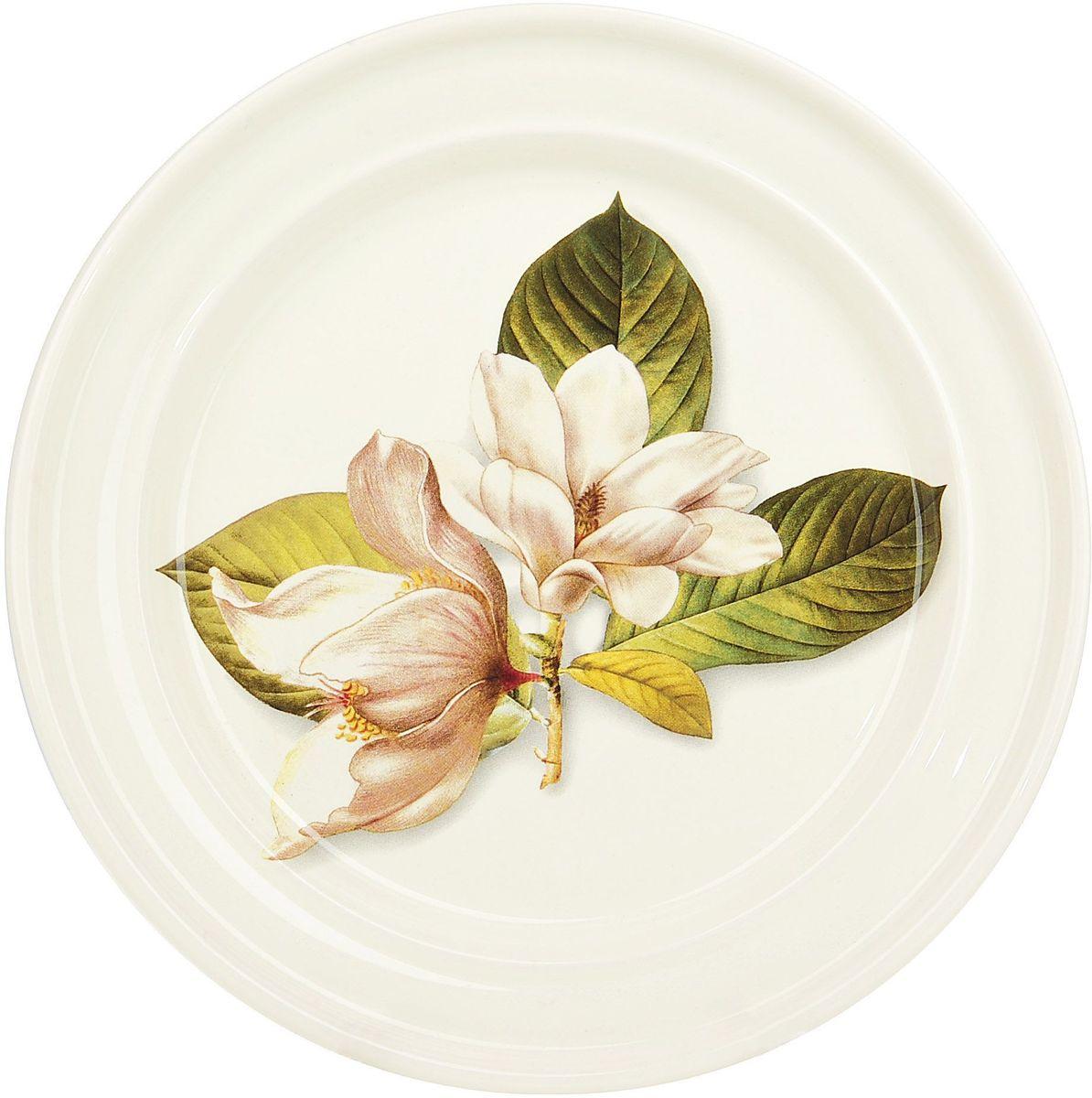 Тарелка десертная ENS Group Танго Магнолия, диаметр 23 см0910012Тарелка Танго Магнолия, изготовленная из высококачественного доломита, предназначена для красивой подачи различных блюд. Изделие декорировано изящным рисунком цветов и имеет изысканный внешний вид. Такая тарелка украсит сервировку стола и подчеркнет прекрасный вкус хозяйки.