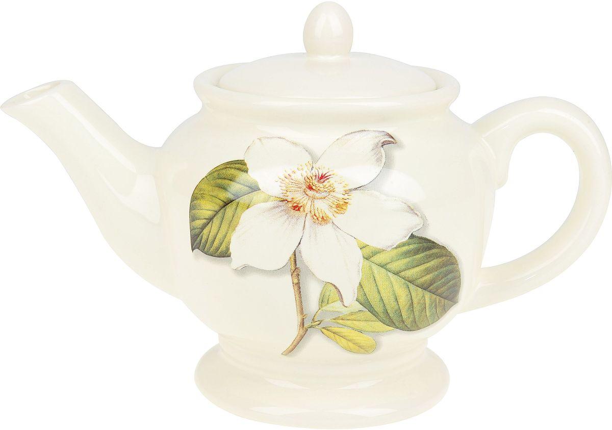 Чайник ENS Group Танго Магнолия, 900 мл0910021Заварочный чайник Танго Магнолия изготовлен из высококачественного доломита. Изделие прекрасно подходит для заваривания вкусного и ароматного чая, а также травяных настоев. Отверстия в основании носика препятствуют попаданию чаинок в чашку. Нежный дизайн сделает чайник настоящим украшением стола.