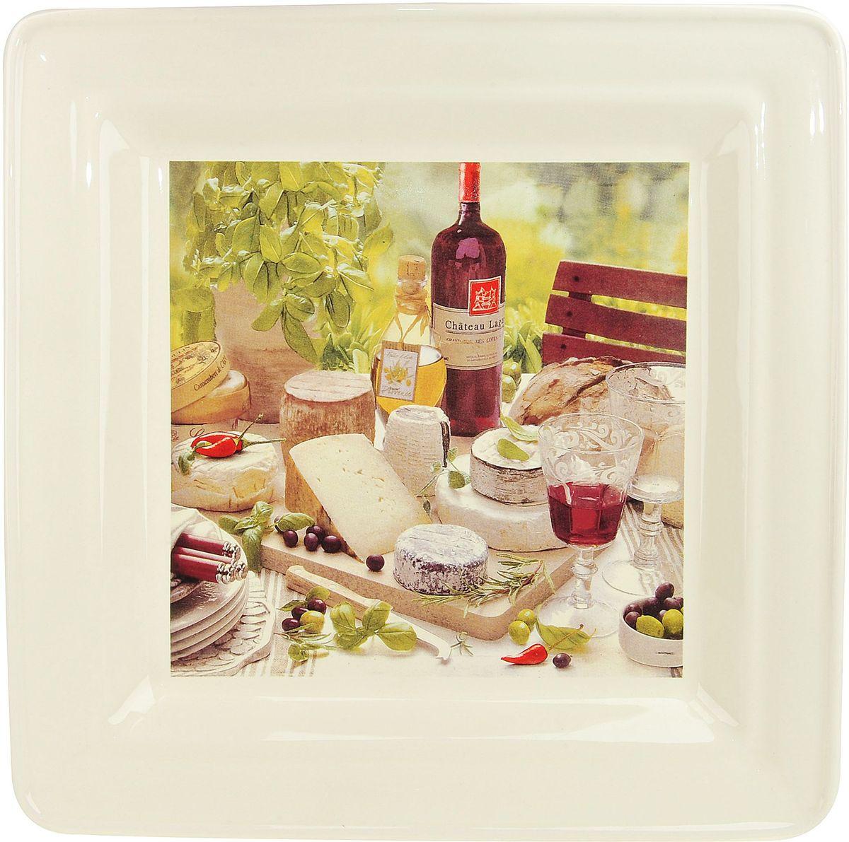 Тарелка ENS Group Тоскана, квадратная, 29 х 29 см0910026Тарелка Тоскана, изготовленная из высококачественного доломита, предназначена для красивой подачи различных блюд. Изделие декорировано красочным рисунком и имеет изысканный внешний вид. Такая тарелка украсит сервировку стола и подчеркнет прекрасный вкус хозяйки.