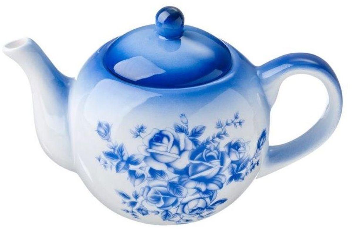 Чайник заварочный Vetta Народные мотивы, 580 мл824725Заварочный чайник Народные мотивы изготовлен из высококачественной керамики. Изделие прекрасно подходит для заваривания вкусного и ароматного чая, а также травяных настоев. Отверстия в основании носика препятствуют попаданию чаинок в чашку. Яркий дизайн сделает чайник настоящим украшением стола.