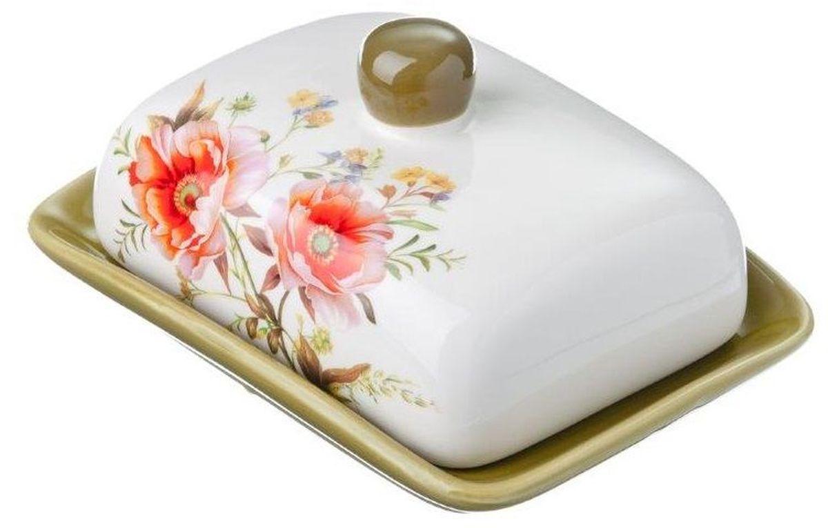 Масленка Vetta Весна824729Масленка Весна выполнена из высококачественной керамики в виде подноса с крышкой. Изделие оформлено ярким изображением цветов и имеет изысканный внешний вид. Масленка предназначена для красивой сервировки стола и хранения масла.