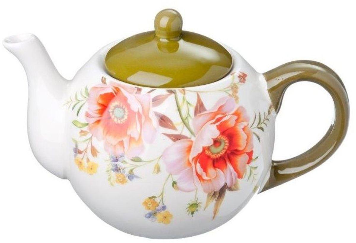 Чайник заварочный Vetta Весна, 580 мл824733Заварочный чайник Весна изготовлен из высококачественной керамики. Изделие прекрасно подходит для заваривания вкусного и ароматного чая, а также травяных настоев. Отверстия в основании носика препятствуют попаданию чаинок в чашку. Яркий дизайн сделает чайник настоящим украшением стола.