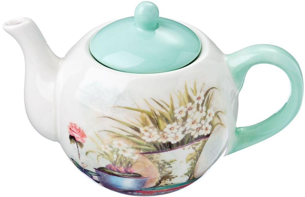Чайник заварочный Vetta Парижский балкон, 580 мл824758Заварочный чайник Парижский балкон изготовлен из высококачественной керамики. Изделие прекрасно подходит для заваривания вкусного и ароматного чая, а также травяных настоев. Отверстия в основании носика препятствуют попаданию чаинок в чашку. Яркий дизайн сделает чайник настоящим украшением стола.