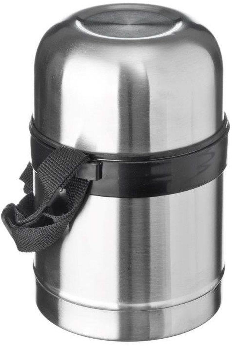 Термос Vetta Суповой, с широким горлом, цвет: серебристый, 500 мл841071Высокопрочный вакуумный термос Vetta Суповой изготовлен из высококачественной нержавеющей стали, прост в использовании и многофункционален. Изделие имеет двойные стенки, что позволяет содержимому долго оставаться горячим или холодным, и изолированную крышку. Съемный ремешок для переноски делает использование термоса легким и удобным. Термос сохраняет температуру горячих или холодных продуктов до 24 часов. Легкий и прочный термос Vetta идеально подойдет для транспортировки и путешествий.
