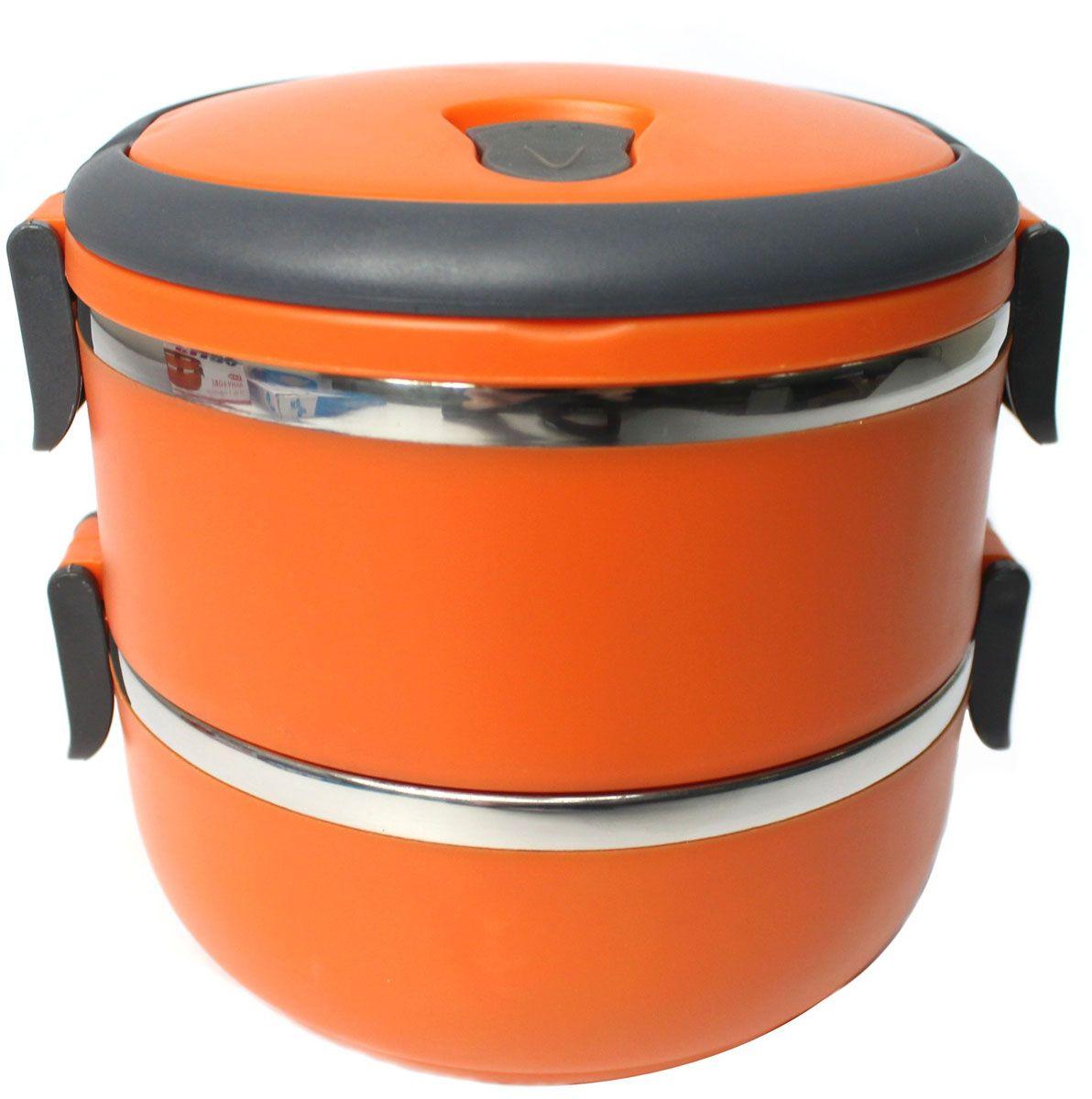 Ланч-бокс Vetta, 2 отделения, 1,4 л841711Ланч-боксы Vetta сохраняют полезные свойства продуктов, герметичны и изготовлены из безопасных материалов. Ланч-бокс имеет 2 отделения. Внутренние емкости изготовлены из нержавеющей стали, снаружи покрыты гигиеничным, приятным на ощупь пластиком. Крышка ланч-бокса снабжена резиновым уплотнителем и платиковыми защелками, что обеспечивает герметичность. Крышка ланч-бокса снабжена закрывающимся отверстием для выпуска пара, а также укомплектована удобной для переноски складной ручкой. Ланч-боксы Vetta - это удобно и надежно, позволяют питаться правильно! Удобные и современные ланч-боксы позволяют взять еду с собой, и вкусно пообедать во время работы или учебы.