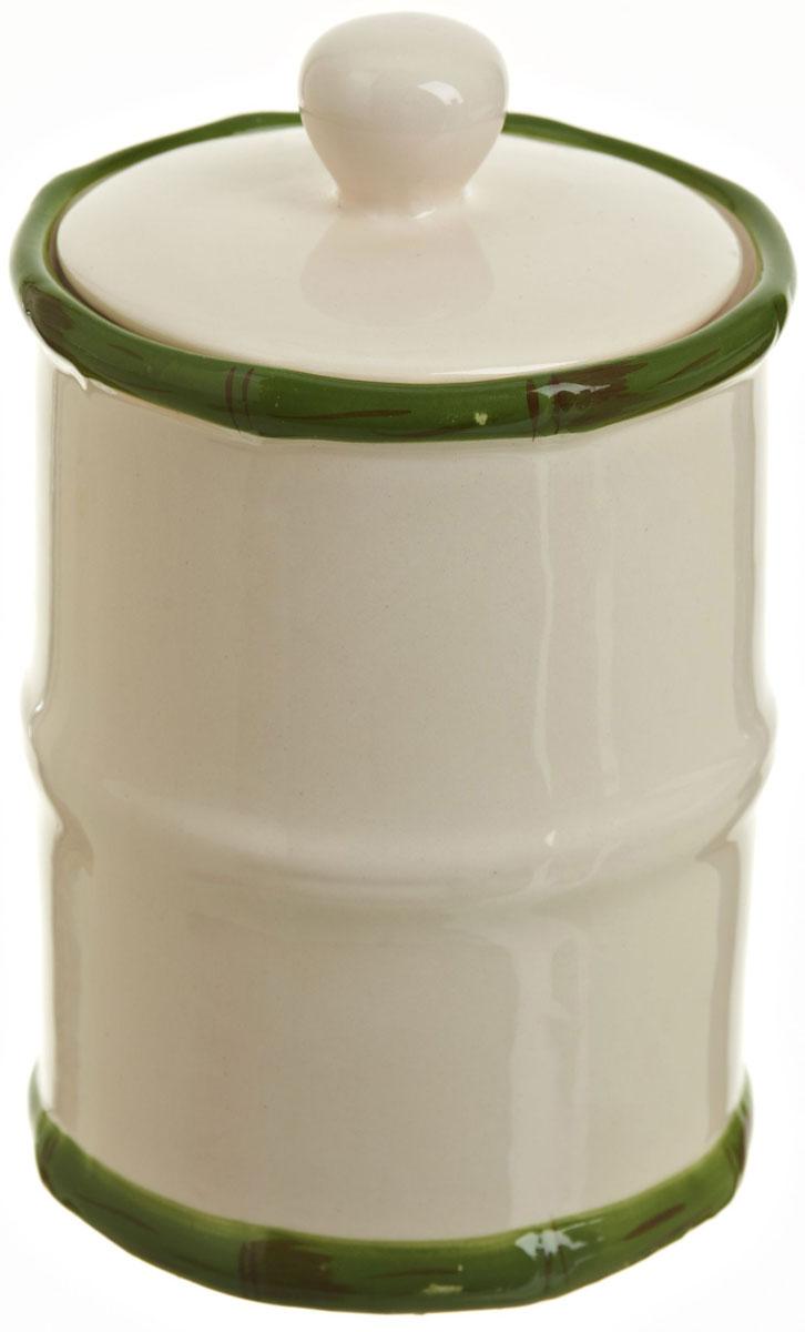 Банка для сыпучих продуктов Polystar Nature Design, 600 млL0200087Банка для сыпучих продуктов Nature Design изготовлена из прочной керамики, закрывается крышкой. Изделие оригинальной формы в виде бамбука. Банка прекрасно подойдет для хранения различных сыпучих продуктов: чая, кофе, сахара, круп и многого другого. Изящная емкость не только поможет хранить разнообразные сыпучие продукты, но и стильно дополнит интерьер кухни.