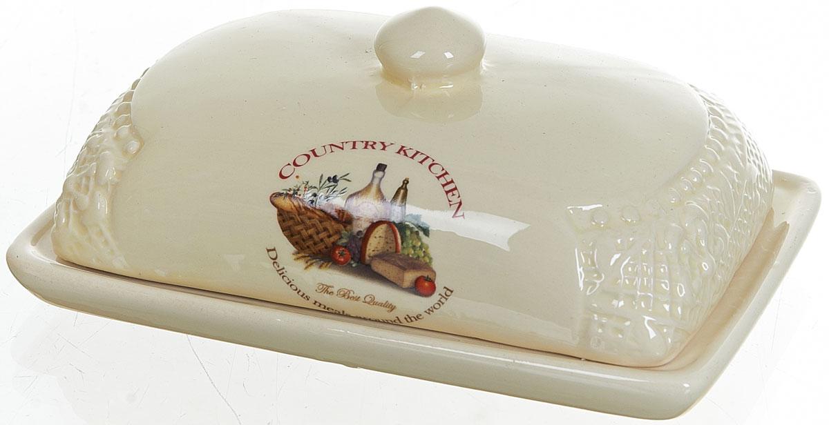Масленка Polystar Country KitchenL0210032Масленка Country Kitchen выполнена из высококачественной керамики в виде подноса с крышкой. Изделие оформлено оригинальным рисунком и имеет изысканный внешний вид. Масленка предназначена для красивой сервировки стола и хранения масла.