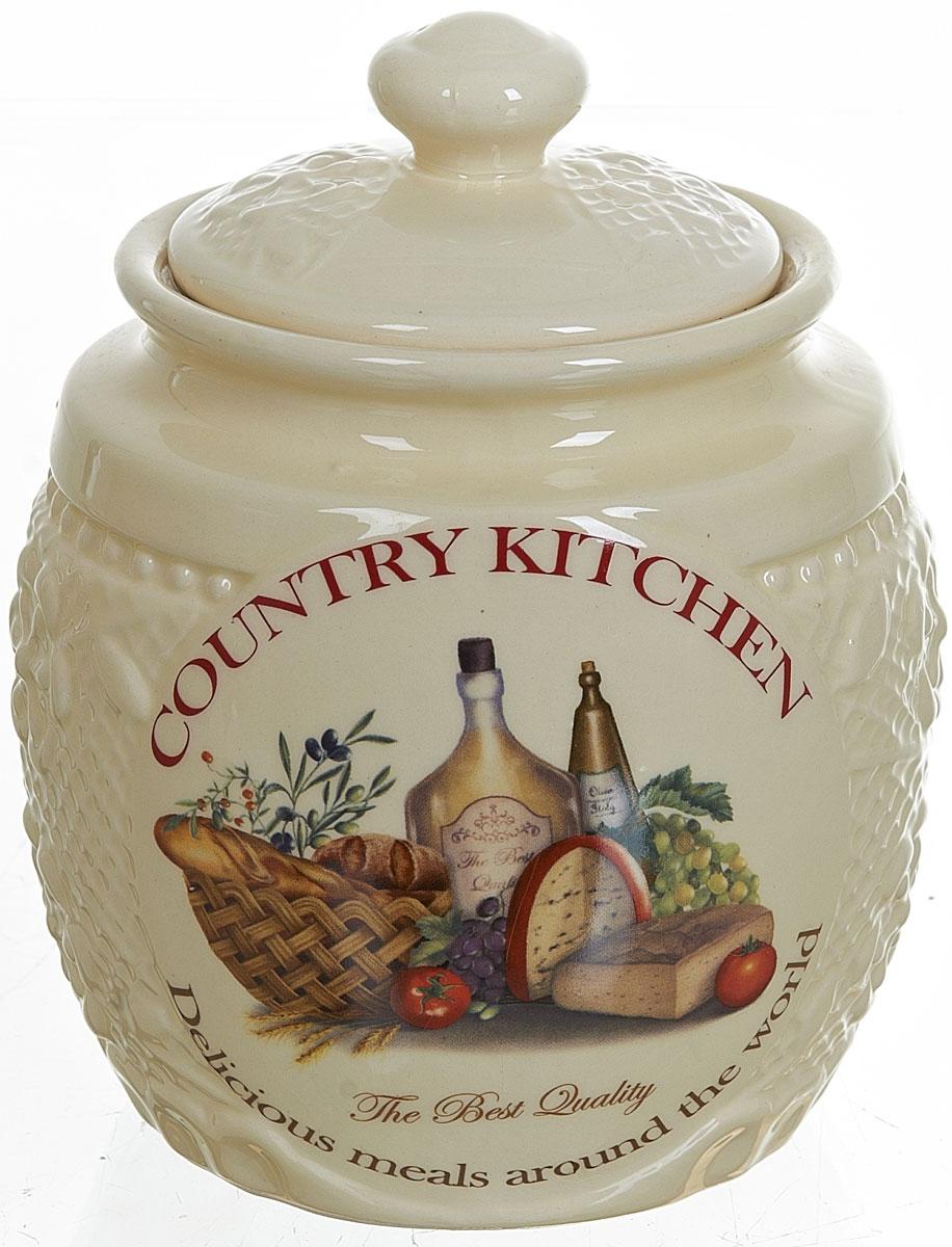 Банка для сыпучих продуктов Polystar Country Kitchen, 870 млL0210044Банка для сыпучих продуктов Country Kitchen изготовлена из прочной керамики, закрывается крышкой. Банка прекрасно подойдет для хранения различных сыпучих продуктов: чая, кофе, сахара, круп и многого другого. Изящная емкость не только поможет хранить разнообразные сыпучие продукты, но и стильно дополнит интерьер кухни.