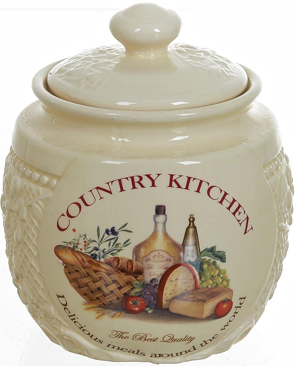 Банка для сыпучих продуктов Polystar Country Kitchen, 720 млL0210045Банка для сыпучих продуктов Country Kitchen изготовлена из прочной керамики, закрывается крышкой. Банка прекрасно подойдет для хранения различных сыпучих продуктов: чая, кофе, сахара, круп и многого другого. Изящная емкость не только поможет хранить разнообразные сыпучие продукты, но и стильно дополнит интерьер кухни.