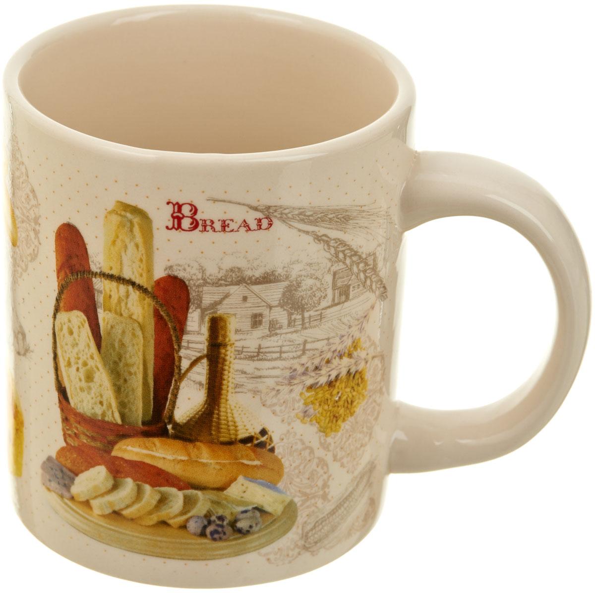 Кружка Polystar Хлеб, 300 млL1581898Кружка Хлеб, выполненная из высококачественной керамики, украшена рисунком. Изделие оснащено удобной ручкой. Кружка сочетает в себе оригинальный дизайн и функциональность. Благодаря такой кружке пить напитки будет еще вкуснее.