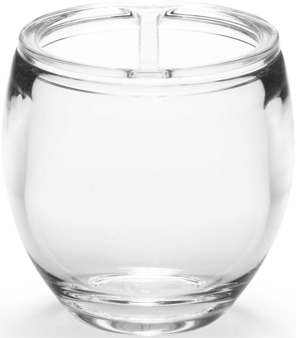 Стакан для зубных щеток Umbra Droplet, цвет: прозрачный, 10 х 9 х 9 см020160-165Функциональность подставки для зубных щеток неоспорима - где же еще их хранить. А вот как насчет дизайна? В Umbra уверены: такой простой и ежедневно используемый предмет должен выглядеть лаконично, но необычно. Ведь в небольшой ванной комнате не должно быть ничего вызывающе яркого. Немного экспериментировав с формой, дизайнеры создали подставку Droplet которая придется кстати в любом доме и вместит зубные щетки всех членов семьи.