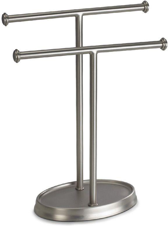 Держатель для полотенец Umbra Palm, цвет: никель, 27 х 13 х 10 см021019-410Элегантный держатель для двух полотенец дополнит ванную, туалетную комнату или кухню. Просто и со вкусом!