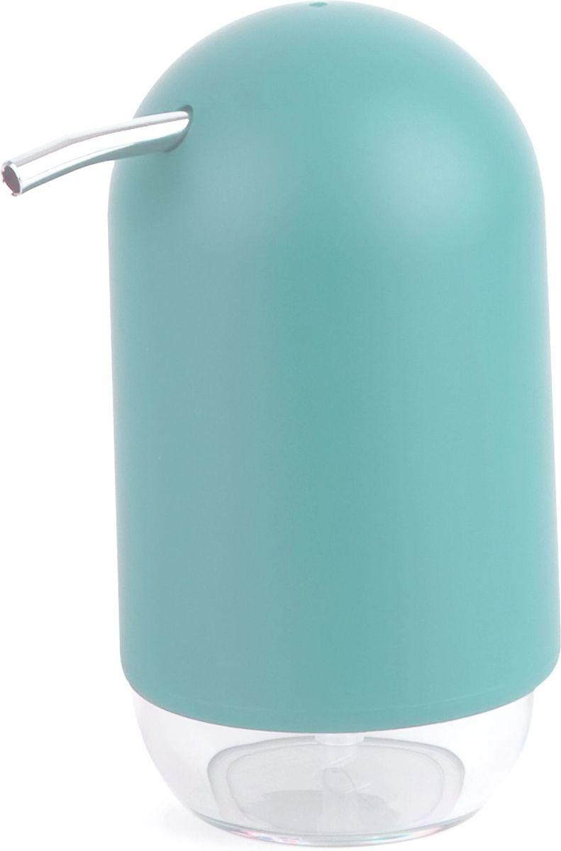 Диспенсер для мыла Umbra Touch, цвет: морская волна, 14 х 7 х 7 см023273-276Мыло душистое, полотенце пушистое - если мыть руки, то с этим слоганом. Потому что приятно пахнущее мыло, например, ванильное или земляничное, поднимает настроение. А если оно внутри красивого диспенсера, который поможет отмерить нужное количество, это вдвойне приятно. Те, кто покупает жидкое мыло, знают, что очень часто оно продается в некрасивых упаковках или очень больших бутылках, которые совершенно неудобно ставить на раковину. Проблема решена вот с таким лаконичным симпатичным диспенсером. Теперь вы не забудете вымыть руки перед едой! Обратите внимание на прозрачную нижнюю часть: благодаря ей вы сразу увидите, если мыло кончается, и сможете пополнить резервуар. Объем - 235 мл. P.S. (Важная подсказка): диспенсер также можно использовать на кухне для моющего средства, получается очень экономно.