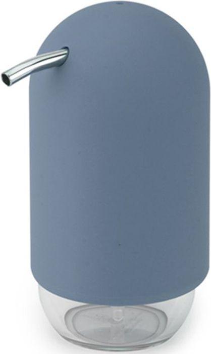 Диспенсер для мыла Umbra Touch, цвет: дымчато-синий, 14 х 7,5 х 9,5 см023273-755Удобный и стильный диспенсер для жидкого мыла. Изготовлен из литого пластика. Прозрачная нижняя часть служит как индикатор количества мыла. Объем - 235 мл. Дизайн: Alan Wisniewski