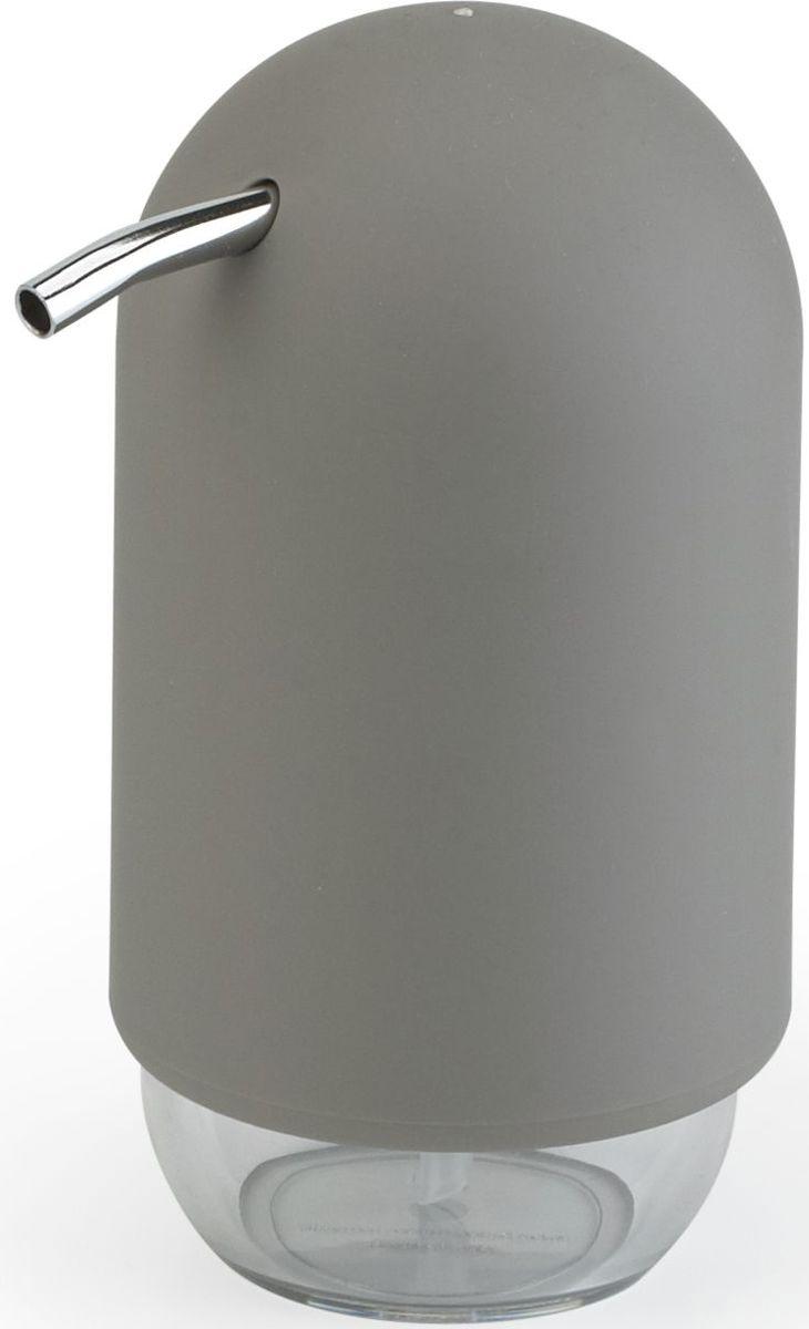 Диспенсер для мыла Umbra Touch, цвет: серый, 14 х 7 х 7 см023273-918Мыло душистое, полотенце пушистое - если мыть руки, то с этим слоганом. Потому что приятно пахнущее мыло, например, ванильное или земляничное, поднимает настроение. А если оно внутри красивого диспенсера, который поможет отмерить нужное количество, это вдвойне приятно. Те, кто покупает жидкое мыло, знают, что очень часто оно продается в некрасивых упаковках или очень больших бутылках, которые совершенно неудобно ставить на раковину. Проблема решена вот с таким лаконичным симпатичным диспенсером. Теперь вы не забудете вымыть руки перед едой! Обратите внимание на прозрачную нижнюю часть: благодаря ей вы сразу увидите, если мыло кончается, и сможете пополнить резервуар. Объем - 235 мл. P.S. (Важная подсказка): диспенсер также можно использовать на кухне для моющего средства, получается очень экономно.