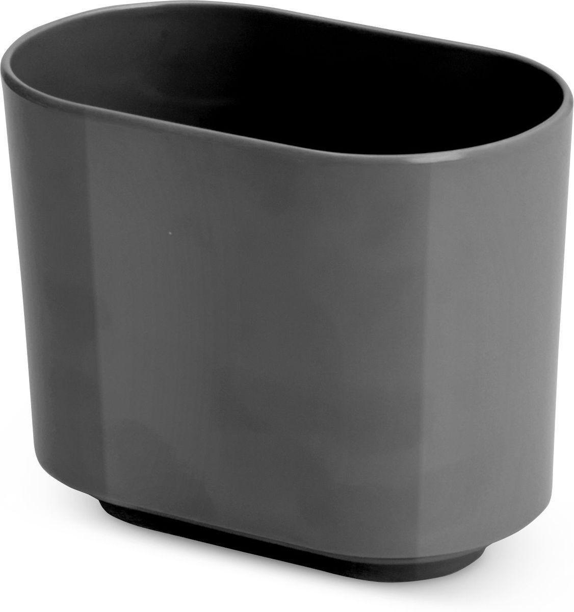 Стакан для зубных щеток Umbra Step, цвет: темно-серый, 7,5 х 10 х 12,5 см023836-149Step – коллекция минималистичных и функциональных предметов, изготовленных из меламина. Вместительная подставка послужит для хранения зубных щеток всех членов семьи. Дизайн: Tom Chung
