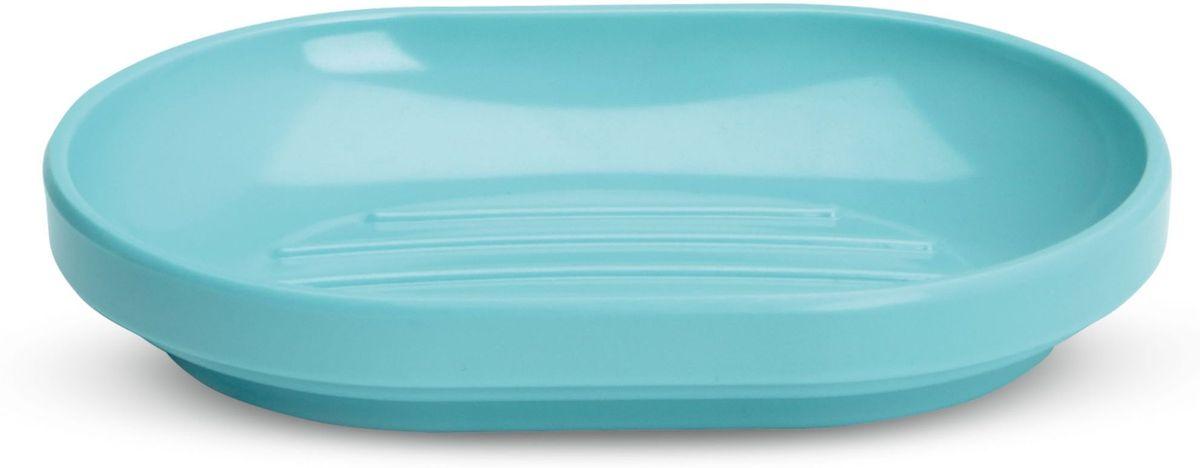 Мыльница Umbra Step, цвет: морская волна, 2,3 х 14,6 х 10,3 см023837-276Функциональность мыльницы неоспорима - именно она защищает нашу раковину от мыльных подтеков и пятен. А как насчет дизайна? В Umbra уверены: такой простой и ежедневно используемый предмет должен выглядеть лаконично, но необычно. Ведь в небольшой ванной комнате не должно быть ничего вызывающе яркого. Немного экспериментировав с формой, дизайнеры создали мыльницу Step, которая придется кстати в любом доме!