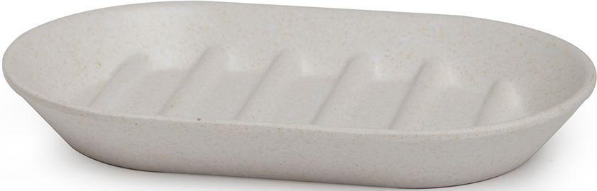 Мыльница Umbra Fiboo, цвет: экрю, 1,9 х 14,9 х 9,4 см023873-354Эта практичная мыльница изготовлена из комбинированного материала (меламин и бамбуковое волокно), который отличает экологичность, износостойкость и уникальный матовый эффект. Ребристая поверхность позволит мылу быстро высохнуть. Дизайн: Wesley Chau