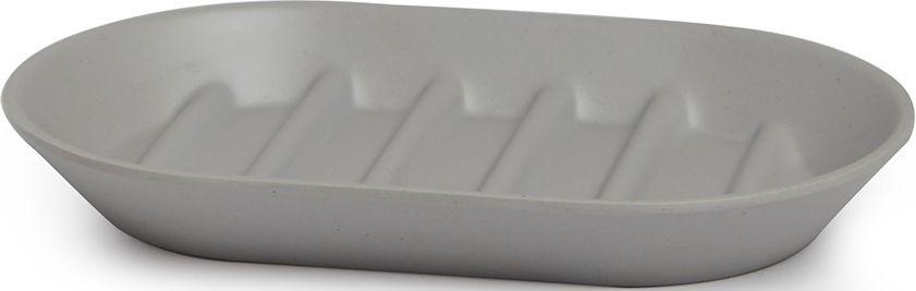 Мыльница Umbra Fiboo, цвет: серый, 1,9 х 14,9 х 9,4 см023873-918Эта практичная мыльница изготовлена из комбинированного материала (меламин и бамбуковое волокно), который отличает экологичность, износостойкость и уникальный матовый эффект. Ребристая поверхность позволит мылу быстро высохнуть. Дизайн: Wesley Chau