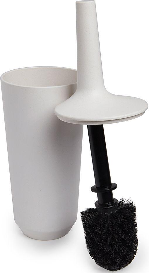 Ершик туалетный Umbra Fiboo, цвет: экрю, 39,8 х 11,8 х 11,8 см023876-354Этот нужный предмет изготовлен из комбинированного материала (меламин и бамбуковое волокно), который отличает экологичность, износостойкость и уникальный матовый эффект. Благодаря лаконичному дизайну будет гармонично смотреться в любой ванной комнате. Удобен в использовании благодаря эргономичной конструкции. Дизайн: Wesley Chau